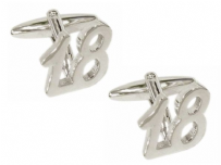Dalaco 90-1424 18th Birthday Celebration Rhodium Plated Cufflinks